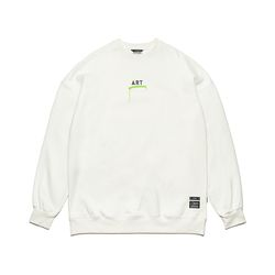 ART OVERSIZED HEAVY SWEAT CREWNECK WHITE