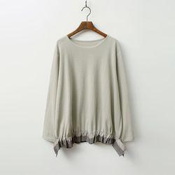 Ribbon Shirring Sweatshirt - New