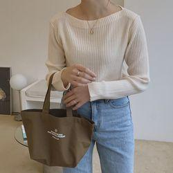 basic mini canvas bag ( kakki )
