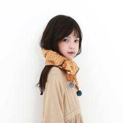 도트폼폼이 아동 스카프