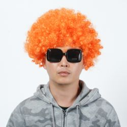 뽀글이 파마 파티 가발(오렌지)
