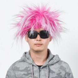 모던 펑키 파티 가발(핑크)