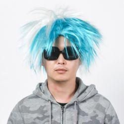 모던 펑키 파티 가발(블루)