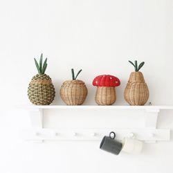 라탄 과일 바구니 수납함