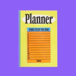 PLANNER CCN YELLOW