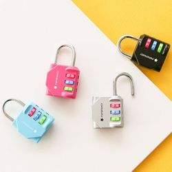 안전한 3다이얼 자물쇠 (랜덤발송)