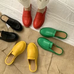 Color Loafer Mules