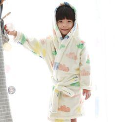 엔비 아동 구름 극세사 목욕가운 샤워가운