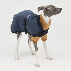 Deep Blue Quilting Jacket 소형견 - S M Size