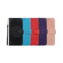 LG G7 플라워 패턴 커버 가죽 케이스 P293
