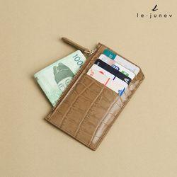 [리쥬네브]세컨와니 카드지갑 L1811 카멜