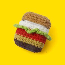 햄버거 코튼실 에어팟 케이스
