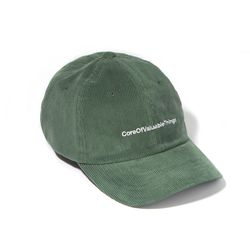CORDUROY CORE CURVED CAP-GREEN