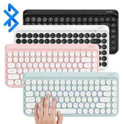 엑토 레트로 미니 휴대용 블루투스 키보드 BTK-01