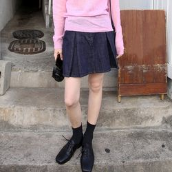 kitch pintuck denim skirts