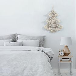 크리스마스 벽트리 마크라메 네츄럴 행잉 코코아
