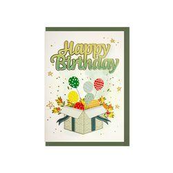 025-SG-0088  글리터 생일선물 카드
