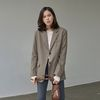 [예약판매 1/29순차배송] CLASSIC OVER TAILORED JACKET KHAKI
