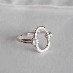 925실버 매듭 타원 반지 knotted ellipse ring