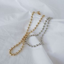 3mm 볼체인 목걸이 ball chain necklace (2col)