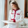 Heart Line Knit Cardigan Knit Skirt SET (아이보리)