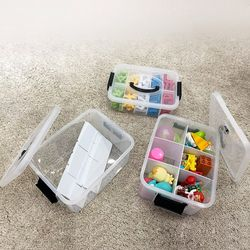 레고 장난감 정리함 소형 1단 블럭 케이스