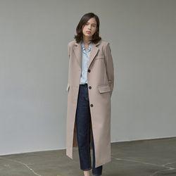 MODERN SINGLE LONG COAT BEIGE