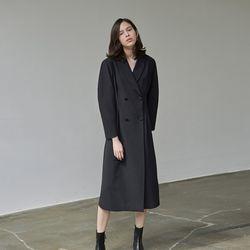 DOUBLE LONG DRESS COAT BLACK