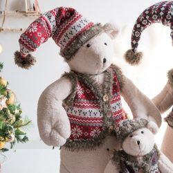 니트곰인형 엄마곰 120cm 크리스마스 인형 TRDOLC