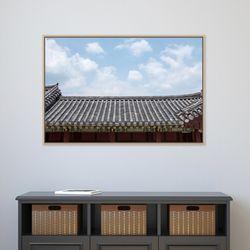 기와 위 구름 송광찬 한국 전통 감성 사진액자