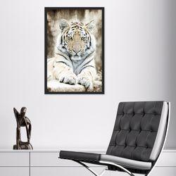 멋있는 호랑이 동물 사진 인테리어 그림액자