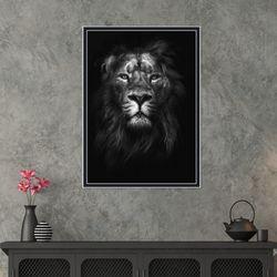 흑백 사자 동물 사진 인테리어 그림액자