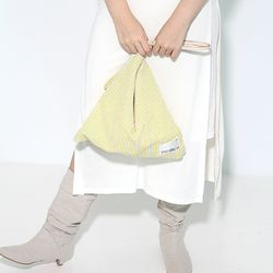 Fabric leather bag - yellow