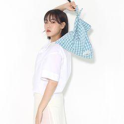 Fabric leather bag - blue
