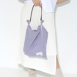 Fabric leather bag - navy