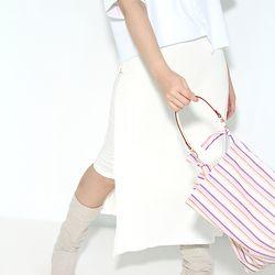 Fabric leather bag - orange purple
