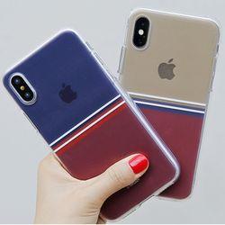 [T]심플라인 투명 젤리 케이스.아이폰7(8)플러스공용