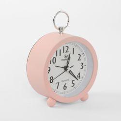 퀴리 무소음 원형 탁상시계(핑크)