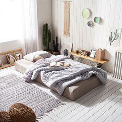 홈잡스 올인원 저상형 더블 침대 매트리스