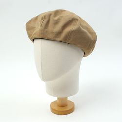 Washing Cotton Beige Beret 베레모