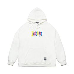 MULTIPLE COLOR OVERSIZED HEAVY SWEAT HOODIE WHITE