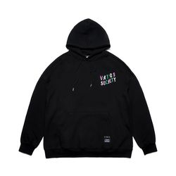 WAVE OVERSIZED HEAVY SWEAT HOODIE BLACK