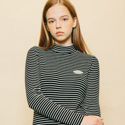 SOFT TOUCH STRIPE T-SHIRTS BLACK