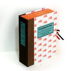 엔틱 로즈 스트라이프 고서적함 [VintageBookCase] BlankBook