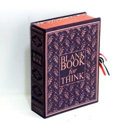 엔틱 아가일 네이비 고서적함 [VintageBookCase] BlankBook