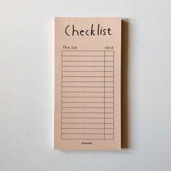 Pastel orange checklist