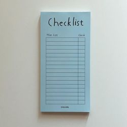 Aqua blue checklist