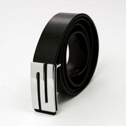 스톤라인 블랙 가죽 벨트(125cm)