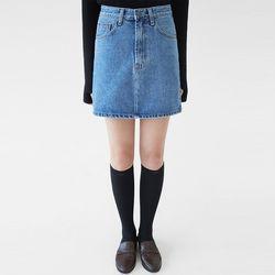 buck denim mini skirts (s m l)