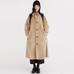 corduroy long simple coat (2colors)